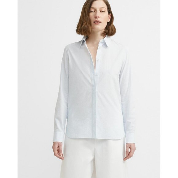Theory Tops - NWT Theory Striped Classic Straight Shirt Small